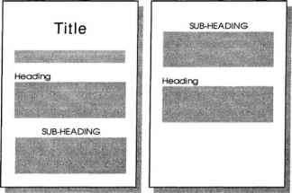Heading With Subheadings Example