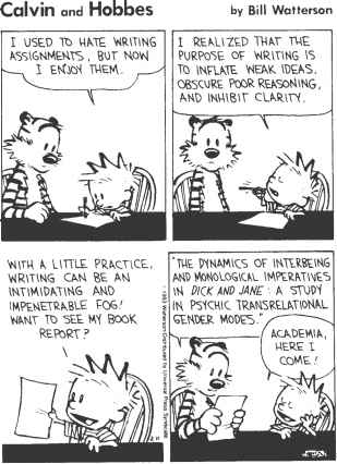 Calvin And Hobbes Scientific Writing